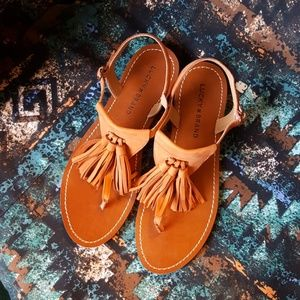 Lucky Brand Fringe Sandals